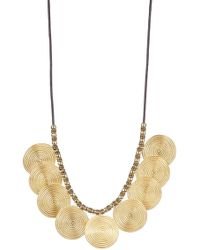 Elizabeth and James - Spiral Pendant Della Necklace - Lyst