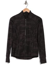 90 Degrees Lux Printed Full-zip Jacket - Black