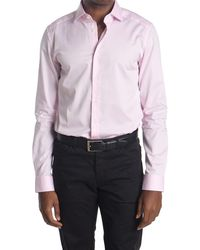 Reiss Slim Fit Solid Shirt - Pink