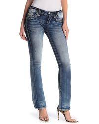 Rock Revival Embellished Bootcut Jeans - Blue