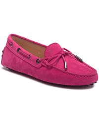 Tod's - Suede Leather Grommini Moccasin - Lyst