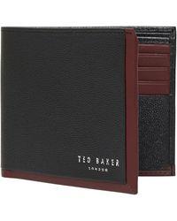 Ted Baker - Candlez Leather Bifold Wallet & Cardholder Wallet Set - Lyst