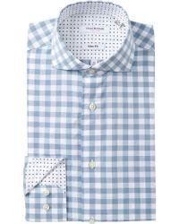 Isaac Mizrahi New York | Multi Check Slim Fit Dress Shirt | Lyst