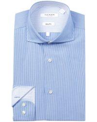 Isaac Mizrahi New York | Mini Stripe Slim Fit Dress Shirt | Lyst
