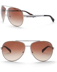 Armani Exchange - Men's Aviator 64mm Metal Frame Sunglasses - Lyst
