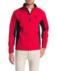 Spyder Stryke Quarter Zip Knit Jacket - Red
