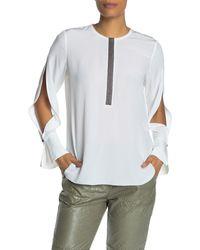 Go> By Go Silk Clean & Simple Silk Blouse - White