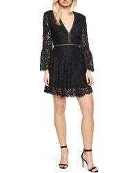 Bardot - Midnight Lace Minidress - Lyst