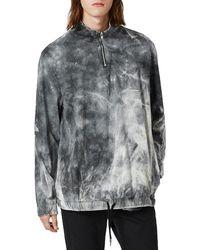 TOPMAN - Tie-dye Quarter Zip Sweater - Lyst