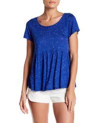 Bobeau - Slub Spacedye Babydoll Knit Shirt (petite) - Lyst