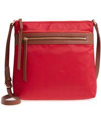 Nordstrom Kaison Nylon Crossbody Bag - Red