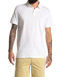 Thread & Cloth - Pigment Dye Slub Solid Polo Shirt - Lyst