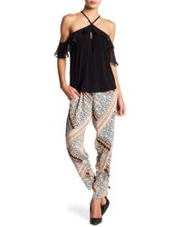 BCBGeneration - Patched Woven Skinny Pants - Lyst