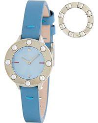80853cc7f9 Furla - Women's Club Interchangeable Bezel Leather Strap Watch, 26mm - Lyst