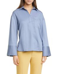 Club Monaco Popover Pocket Shirt - Blue