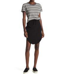 Frank & Eileen Drawstring Fleece Sweat Skirt - Black