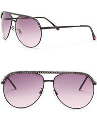 Betsey Johnson - Rhinestone Embellished Aviator Sunglasses - Lyst
