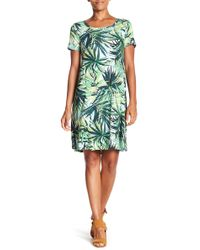Spense - Short Sleeve Floral Dress - Lyst