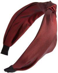 Cara - Knotted Taffeta Headband - Lyst
