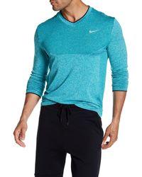 Nike Golf Dri-fit V-neck Sweater - Blue