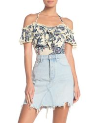Free People Cha Cha Cold Shoulder Top - White