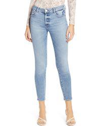DL1961 Instasculpt Florence Ankle Skinny Jeans - Blue