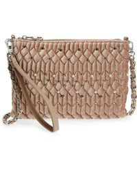 Chelsea28 - Lily Quilted Velvet Crossbody Clutch - Lyst