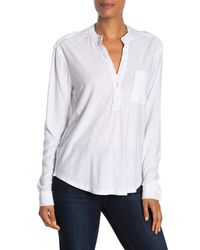 James Perse Pocket Pullover Shirt - White