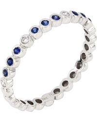 Bony Levy 18k White Gold Del Mar Sapphire & Diamond Band Ring - Metallic