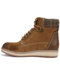 White Mountain Footwear Theo Suede Lace-up Faux Shearling Lined Boot - Brown