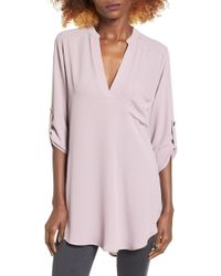 Lush - Perfect Roll Tab Sleeve Tunic - Lyst