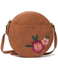 T-Shirt & Jeans Sloan Embroidered Crossbody Bag - Brown