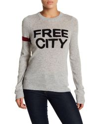 FREE CITY - Str8up Cashmere Crew Neck Sweater - Lyst