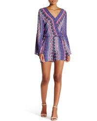 Cece by Cynthia Steffe - Serena Printed Romper - Lyst