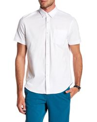 Perry Ellis - Oxford Knit Button Down Tee - Lyst