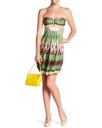 Sky - Belt Buckle Strapless Dress - Lyst