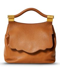 Thale Blanc Pebbled Leather Audrey Backpack - Brown