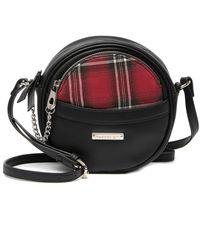 Madden Girl Plaid Canteen Crossbody Bag - Black