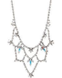 Sorrelli - Interlacing Crystal Navette Necklace - Lyst