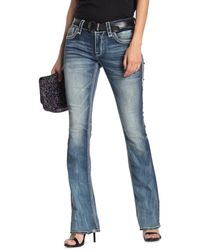 Rock Revival Liri Embellished Bootcut Jeans - Blue