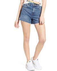 BDG Urban Outfitters High Waist Denim Mom Shorts - Blue