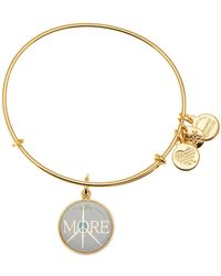 ALEX AND ANI - More Peace Words Are Powerful Expandable Wire Charm Bracelet - Lyst