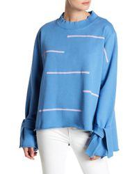 George Loves - Print Tie Sleeve Sweatshirt - Lyst