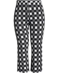 BP. Plaid Kick Flare Pants - Black