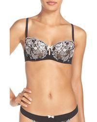Felina Priscilla Unlined Underwire Demi Bra (regular & Plus Size, C-g Cups) - Black