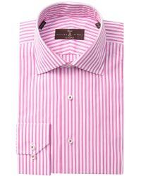 Robert Talbott Striped Classic Fit Dress Shirt - Pink