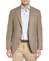 Peter Millar Hyperlight Classic Fit Wool, Silk & Linen Sport Coat - Brown