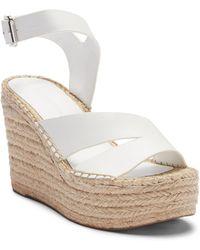 Sigerson Morrison - Arien Mirrored-leather Espadrille Wedge Sandals - Lyst