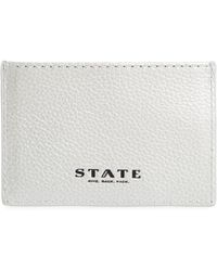 State Bags - Greenwood Monaco Leather Card Case - Lyst