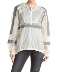 John Elliott Plex Sail Half Zip Hooded Jacket - White